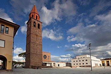 Piazza Roma square, Carbonia (CI), Sardinia, Italy, Europe