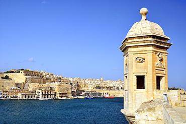 Vedette of Safe haven Gardens, Senglea, Malta, Europe