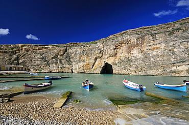 Inland Sea, Dwejra Bay, Saint Lawrence, Gozo island, Malta, Europe