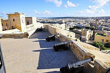 The Cittadella of Vittoria, Rabat, Gozo island, Malta, Europe