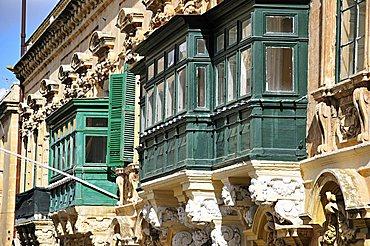 Balcony, Valletta, Malta. Europe