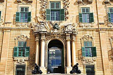 Auberge de Castille, Leon and Portugal, Valletta, Malta, Europe