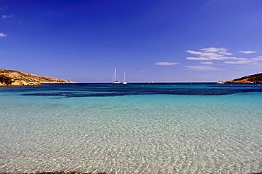 Landscape, Caprera island, La Maddalena archipelago, Sardinia, Italy, Europe