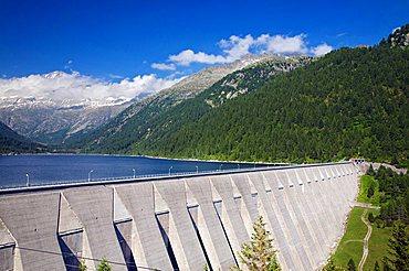 Dam of Malga Bissinia, Fumo Valley, Daone Valley, Valli Giudicarie, Trentino Alto Adige, Italy, Europe