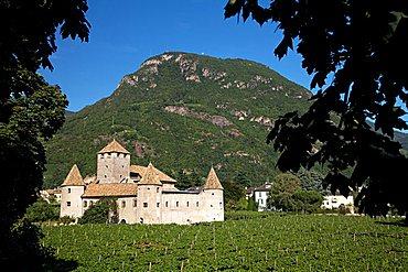 Mareccio castle, old town of Bolzano, Trentino Alto Adige, Italy, Europe