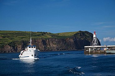 Fishing boat, Horta, Atlantic ocean, Fajal, Azores Island, Portugal, Europe