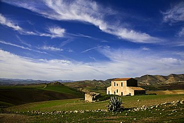 Hill near Centuripe, Sicily, Italy