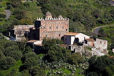Church of Santi Pietro e Paolo d'Agr'Äó, Casalvecchio Siculo, Agr'Äó river valley, Sicily, Italy