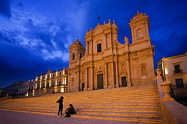 Cathedral at night, Noto, Sicily, Italy