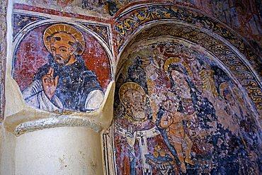 Byzantine frescoes, Church of San Pietro, Otranto, Salento, Apulia, Italy