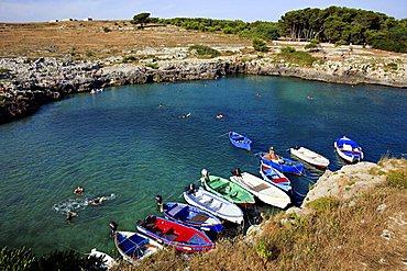 Bay, Porto Badisco, Salento, Apulia, Italy