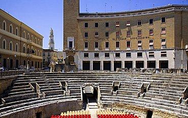 Roman Anphitheatre, Lecce, Apulia, Italy, Europe
