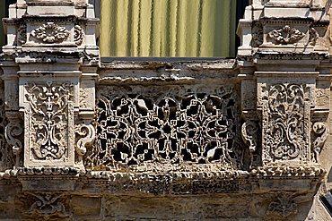 Baroque detail, Lecce, Apulia, Italy, Europe