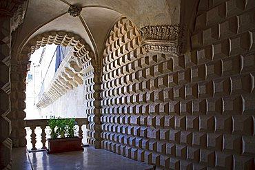 Palazzo Andorno historical palace, Lecce, Apulia, Italy, Europe