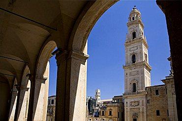 Piazza del Duomo square, Lecce, Apulia, Italy, Europe