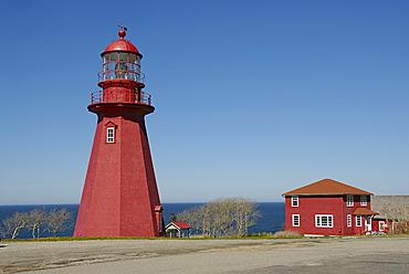 Lighthouse, Gaspesie, Gaspe peninsula, Quebec, Canada, North America