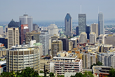 Cityscape from Mount Royal, Montreal, Quebec, Canada, North America