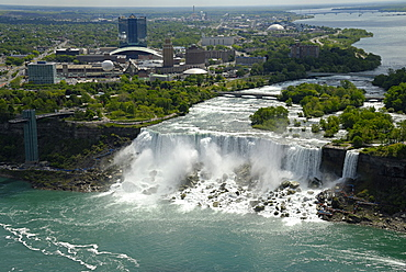Bridal Veil Falls views from Skylon Tower, Niagara Falls, Ontario, Canada, North America