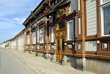 Wooden houses in old town, Rauma, Satakunta, Finland, Scandinavia, Europe