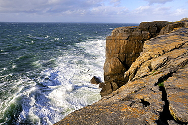 Cliffs from Scenic Route, Burren, County Down, Northern Ireland, Republic of Ireland, Europe