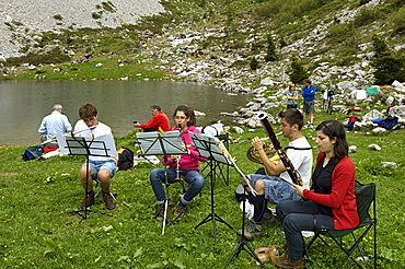 music in the mountain, sedornia valley, italy