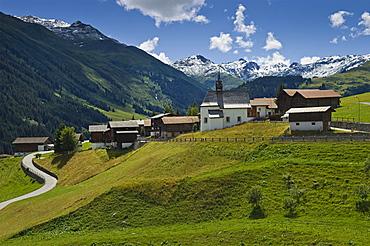 zarcuns village, oberalppass, switzerland