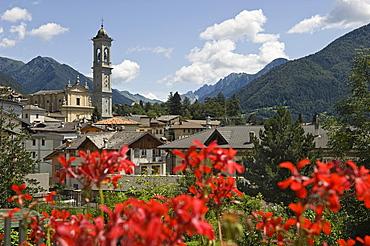 village view, vilminore di scalve, italy
