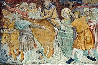 fresco in the collegiata di sant'andrea, empoli, italy