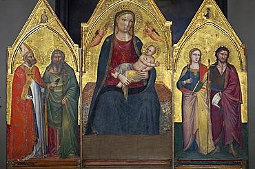 triptych in the collegiata di sant'andrea, empoli, italy