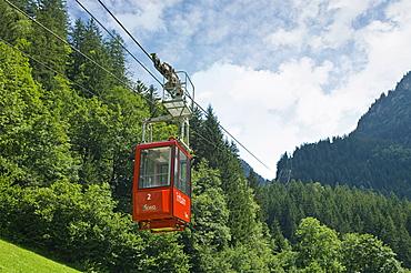 cable car to the glacier, trift glacier, switzerland