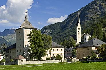 village partial view, zernez, switzerland