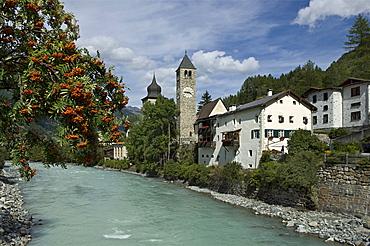 village partial view, susch, switzerland