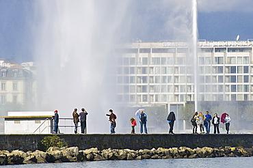 lake and jet d'eau, geneva, switzerland