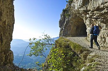 strada delle 52 gallerie, pasubio mountain, italy