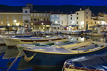 historical centre and port, cres island, croatia