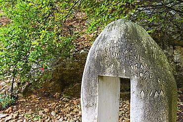 glagolitic stele, cres island, croatia