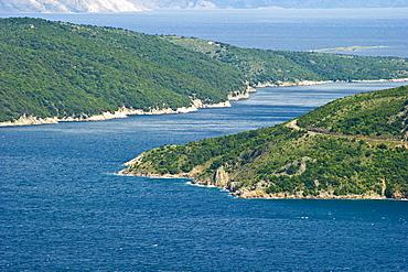 krk canal, cres island, croatia