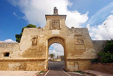 The old medieval monumental door, Salentine Peninsula, Acaia San Cataldo, Apulia, Italy