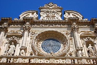 Rosette, Church of the Holy Cross, Lecce, Salentine Peninsula, Apulia, Italy