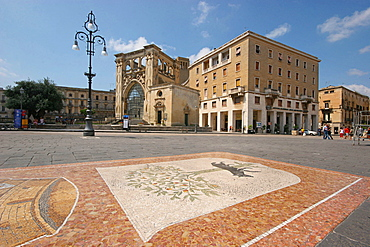 The Sedile Palace and San Marco church, Sant'Oronzo square, Lecce, Salentine Peninsula, Apulia, Italy