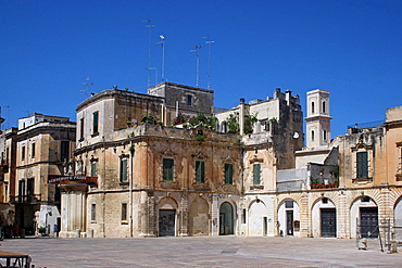 Typical houses, Cathedral's square, Lecce, Salentine Peninsula, Apulia, Italy