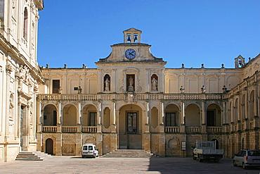 Episcopio palace in Cathedral's square, Lecce, Salentine Peninsula, Apulia, Italy