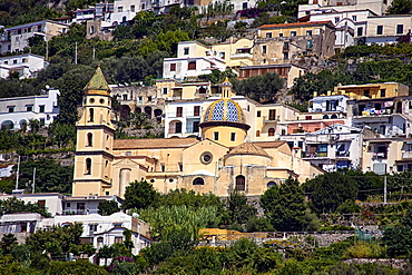 S.Gennaro church, Praiano, Salerno, Campania, Italy, Europe