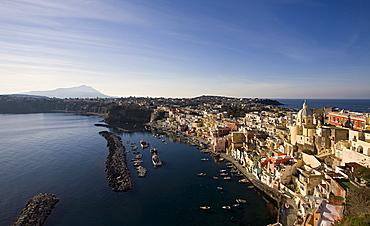 Procida Corricella,Procida island,Naples,Campania,Italy,Europe.