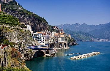 Amalfi city, Amalfi, Salerno, Campania, Italy, Europe