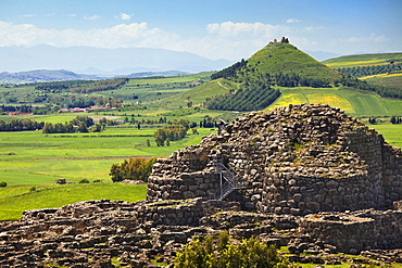 Su Nuraxi, nuraghe di Barumini, Las Plassas castle, Barumini, Marmilla, Medio Campidano, Sardinia, Italy, Europe