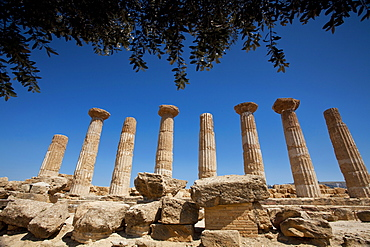 Temple of Heracles, Valle dei Templi, Argigento, Sicily, Italy, Europe