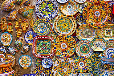 Traditional ceramics, Sicily, Italy, Europe
