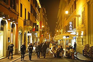 Rome. Italy. Shopping in Via della Vite.