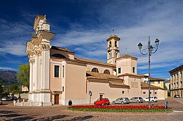 Borgo Sacco church at Rovereto, Vallagarina, Trentino, Italy, Europe